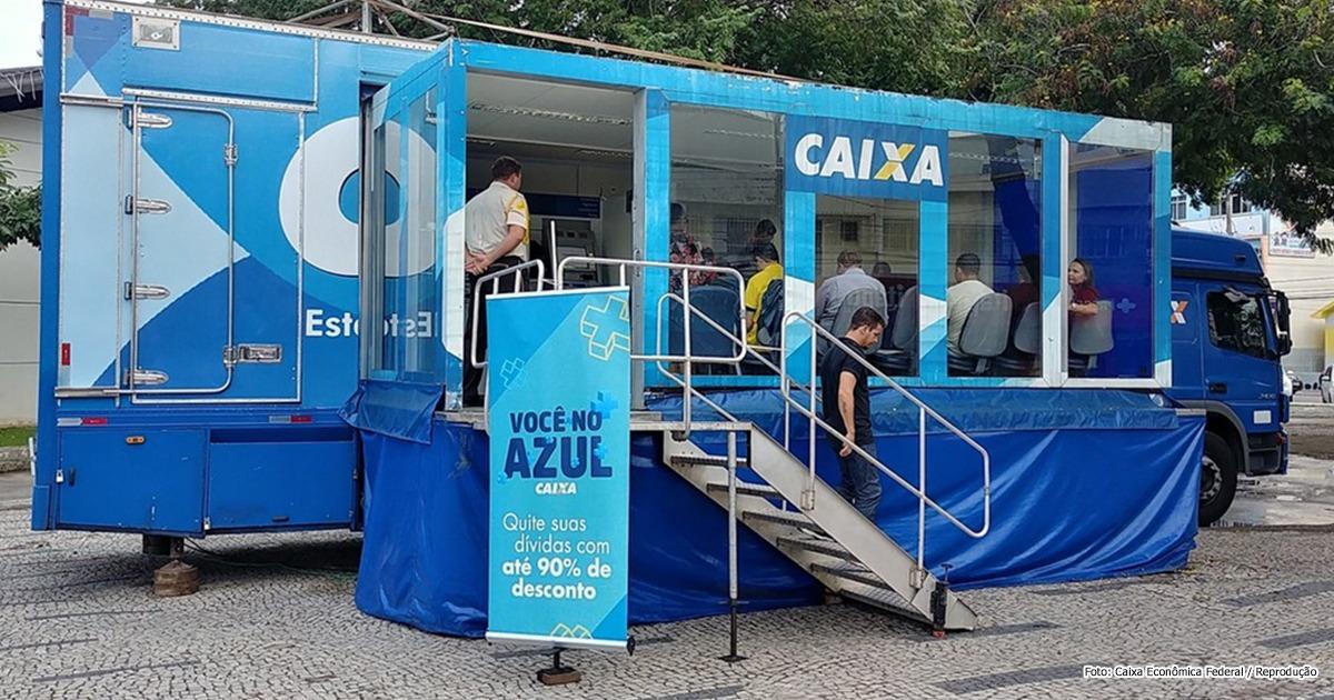 """Caminhão """"Você no Azul"""", da Caixa, chega a Blumenau"""